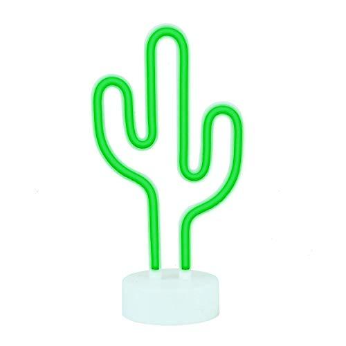 Kaktus Lampe Deko Leuchtreklame LED Fernbedienung Neon Nachtlichter mit Halter Oder Partei Liefert Mädchen Zimmer Dekoration Zubehör für Luau Sommer Party Kinder ()