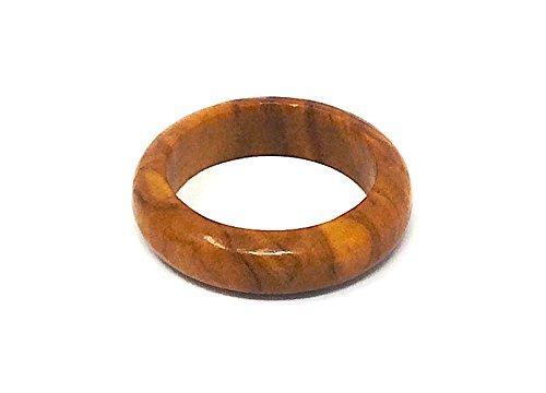 Fingerring aus echten Olivenholz - handgemacht - 18mm - Holzschmuck - auch als Kettenanhänger tragbar - für jeden der gerne Naturprodukte am Finger trägt