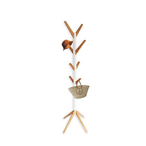 appendiabiti e cappello,Portapantaloni da terra in legno, appendiabiti appendiabiti, appendiabiti in camera da letto e corridoio, 45 * 45 * 178.5 cm
