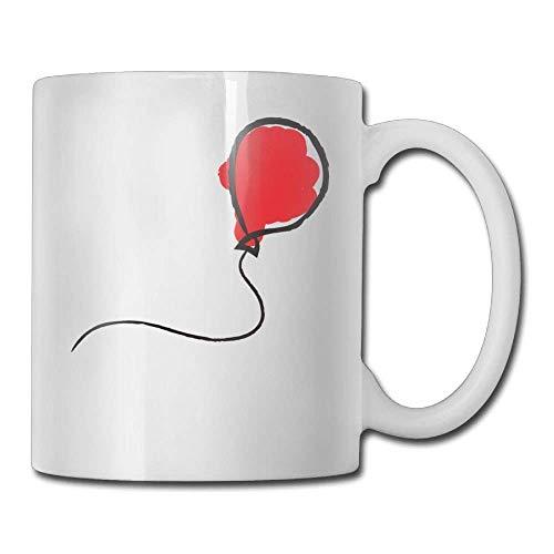 Coffee Mugs Best Birthday Press Red Balloon Ceramic Tea Cup
