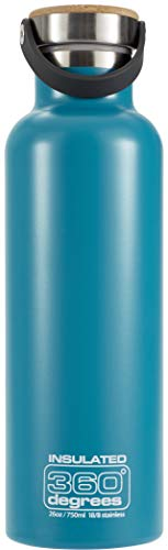 360° Degrees Vacuum Insulated Drink Bottle 750ml Teal 2019 Trinkflasche
