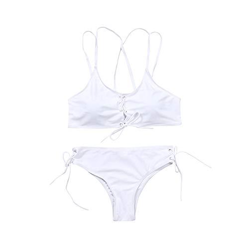 et Zweiteilige Badeanzug mit Push Up Bikinioberteil und Bikinihose Sexy Halter Bademode Bikini-Sets ()