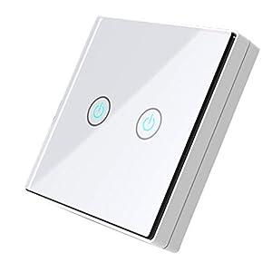 Pandiki Startseite Wireless Receiver Transmitter Noten-Schalter-Glasverkleidung Fernberührungsschalter, Glas Steuerung Lichtschalter Startseite DIY Modification