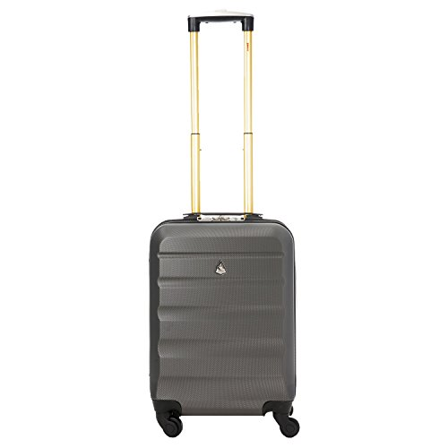 Aerolite Lightweight 4 Wheel ABS Hard Shell Luggage Suitcase Travel Trolley (3 Piece Set, 21″ Cabin + 25″ + 29″, Charcoal)