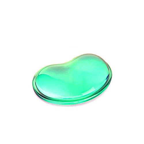 Delmkin Mauspad Silikon kühlen Handgelenk Maus-Pad reizender Kristall Gel Handballenauflage Anti-Rutsch-Mauspad (Grün)