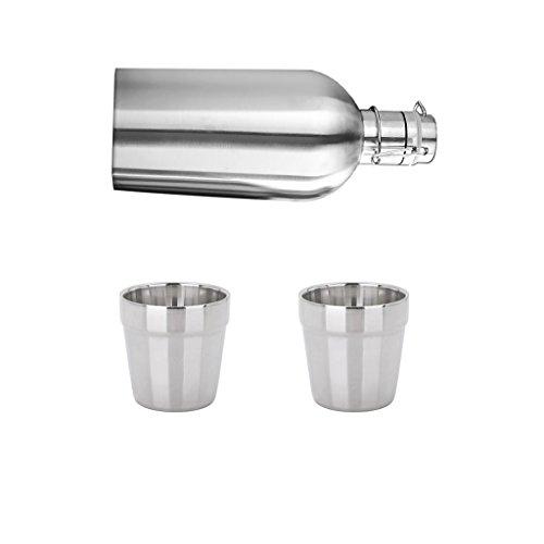 LOVIVER 2L Thermoflasche Trinkflaschen Mit Flip Top Deckel, Inkl. 2 STK. 180ml
