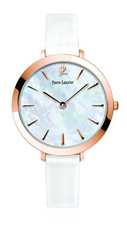 Pierre Lannier - 004D990 - Week-End Basic - Montre Femme - Quartz Analogique - Cadran Blanc - Bracelet Cuir Blanc
