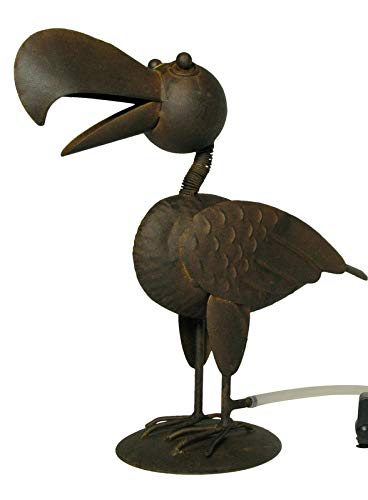 Gartenzaubereien Wasserspeier Vogel Kurt mit Solarpumpe