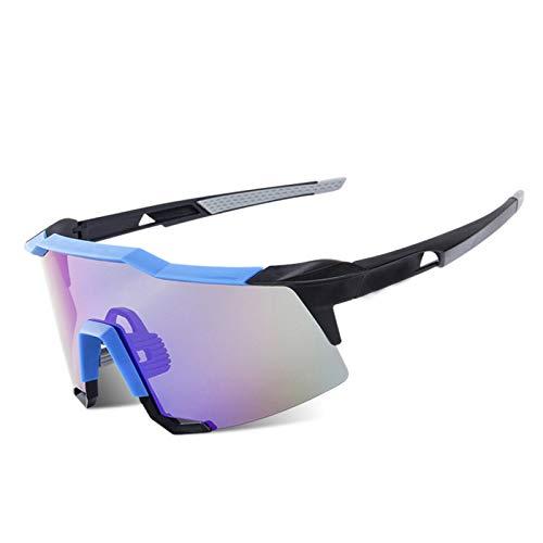 SonMo Schutzbrille Schneebrille Skibrille Nachtsichtbrille Fahrbrille Sport Sonnenbrille Radbrille TPU+PC Blau Brille Winddicht Unisex Blendschutz mit UV Schutz