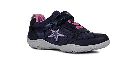 Geox Adalyn Girl J926BA Bambina Sneaker,Scarpe da ginnastika,Scarpe da Cosa Sportivi,Scarpe Sportive,Slipon,Ragazza Scarpe,Sneaker,Pantofole,Elastico,Chiusura con Velcro,Blu,33 EU