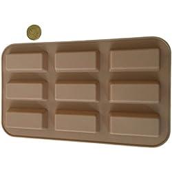 20 barritas por barras de Chocolate molde de silicona molde para bombones larga para hacer para bombones con forma de flores que molde del caramelo caramelos chocolate Cupcake galleta pastel decorar manualidades mordazas formas de Royal House ware