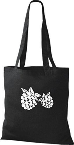 T-shirt Di Stoffa Di Cotone Tinta Unita La Tua Frutta E Verdura Preferita Blackberry Black Black