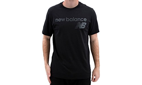 Athletic-logo T-shirt (New Balance Athletics Main Logo T-Shirt Herren schwarz, M)