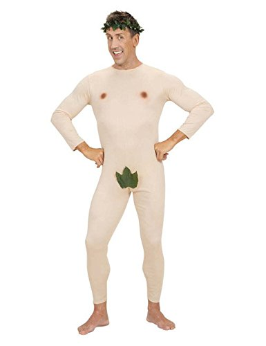 Kostüme Biblische (Nackter Mann Adam Herrenkostüm beige-grün)