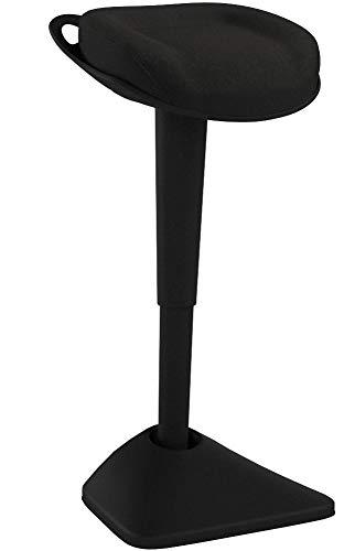 AIMEZO Ergonomischer Sitzhocker, Arbeitshocker, Bürohocker Mit Neigbar, Sitzhöhenverstellung(Schwarz)