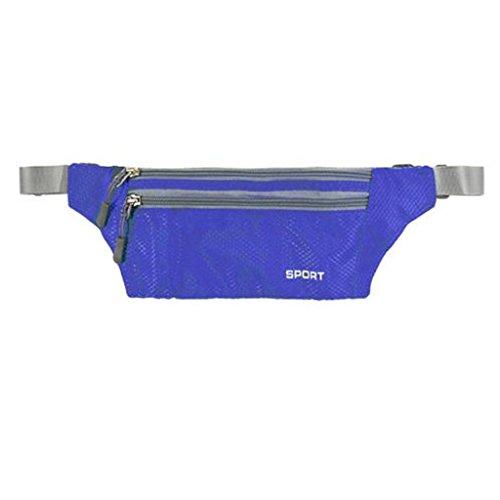 Camping Gürteltasche Laufgürtel Bauchtasche Hüfttasche Sporttasche Bauch Tasche Blau