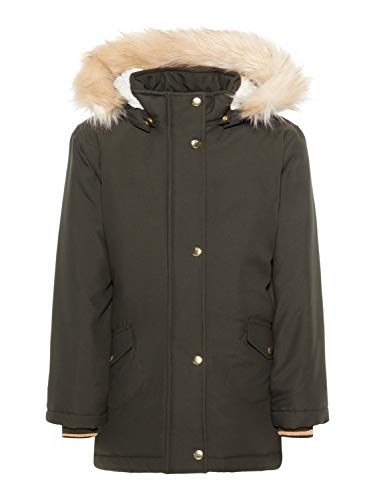 NAME IT Mädchen Winterjacke Khaki 164 -