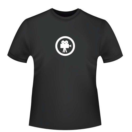 (Film - Movie - Kinokamera, Herren T-Shirt - Fairtrade, Größe M, schwarz)
