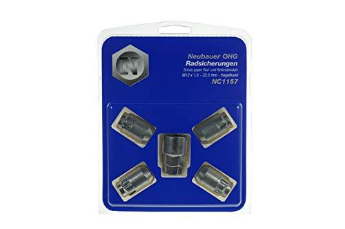 4 Ecrous Antivol 12x150 L2-32.5 - Coniques - Cle 17/19 - LOKNOX NC1157