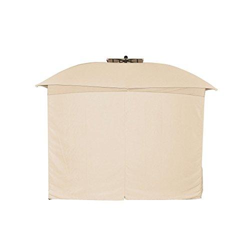 greemotion Rideaux tonnelle 3x3 m pour pavillon de jardin Lincoln – Lot de 4 parois de barnum professionnel 3x3 m – 4 rideaux beige pour tente de réception extérieure – Rideaux étanches et robustes
