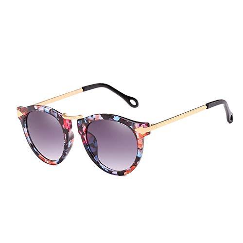 SUNNYBQM Sonnenbrillen Cat Eye Sonnenbrille Frauen Pfeil Sonnenbrille Vintage Shades Für Frau Sonnenbrille Damen Blumen Sunglases