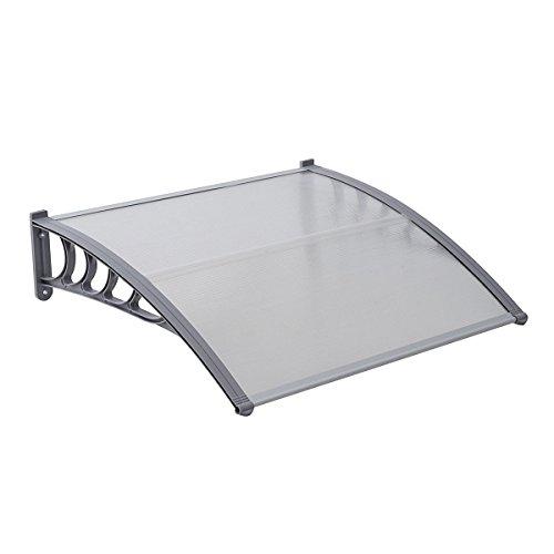 ach Überdachung transparent Schutz vor Niederschlag und Witterung (100 x 80 cm) ()