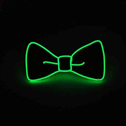 Suncentech Leuchtend Krawatten Einstellbar Krawatte mit Schalter Steuerung, Einheitsgröße, EL Kaltes Licht, Neuheit Party Dekoration ()