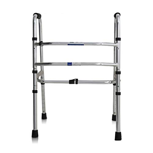 Rollatoren Älterer Wanderer Medical Folding Light Aluminium Alloy Walking Frame und Rad (Color : Silver, Size : 43-50cm) -