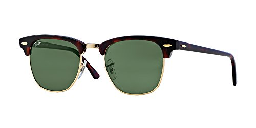 Ray Ban Sunglasses Clubmaster 3016 (49 mm, Tortoise Frame Solid Black Lens)