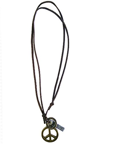 MM Brass Leather Pendant with Leather Chain for Boys and Men