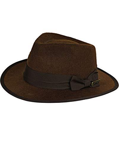 Indiana Jones Hut für Erwachsene, Kostüm Zubehör, zu Karneval und Fasching