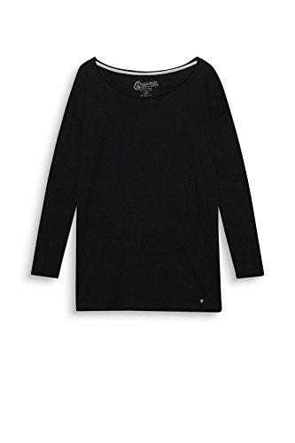edc by Esprit, T-Shirt à Manches Longues Femme Noir (Black 001)
