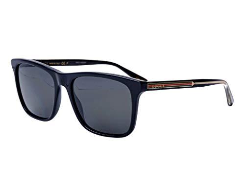 Gucci Sonnenbrillen (GG-0381-S 007) glänzend schwarz - gold - grau polarisierte