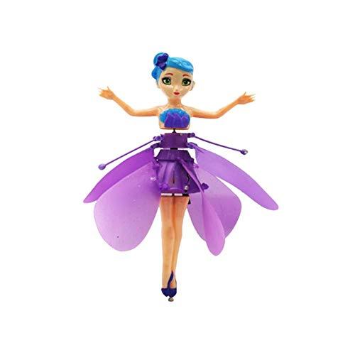 Fliegen Fee Puppe mit Lichter Infrarot Induktionssteuerung RC Hubschrauber/Kinder Spielzeug Teen Spielzeug/Ballett Mädchen Fliegende Prinzessin Puppe
