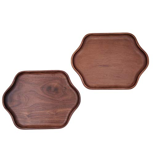 Tablett aus Holz Fast Food Kantine Cafe Carry Restaurant Tray Serviertablett 2 Pcs