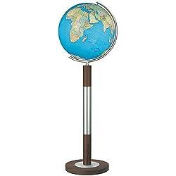 Globo Terráqueo Columbus Duo: 40cm Diámetro. Bola de vidrio soplado, tradicional handkaschiertes .Pie de acero inoxidable y madera.