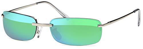 Balinco High Quality Rechteckige Herren Sonnenbrille mit Federscharnier Sunglasses Sportbrille Matrix Rad Brille Radbrille Sport (ICE)