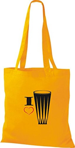 Shirtstown, Borsa tote donna Giallo (goldgelb)