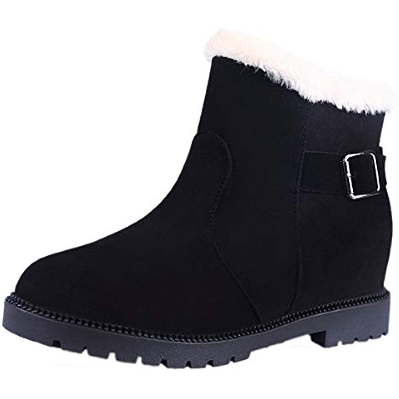Innerternet Femme Bottes Chaud Chaussures Plates Bottes Hiver De De De Neige Daim Boucle Boucles De Sangle Bout Rond... - B07HTDQZ3N - 3f5df8