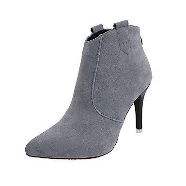 Rtry Femme Chaussures À Talons Formelles Suede Drop Parts & Amp; Robe De Soirée Talon Talon Aiguille Kaki Noir Gris 2a-2 3 / 4in Us8 / Eu39 / Uk6 / Cn39