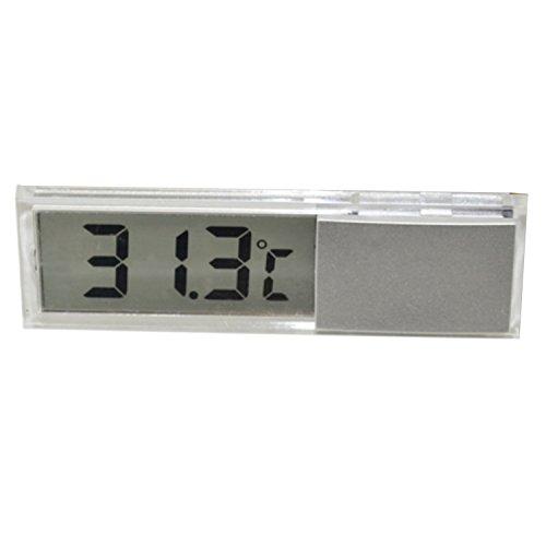Ballylelly 2 en 1 Voiture Automatique Horloge /électronique thermom/ètre Lumineux LED Affichage num/érique Mini Tableau de Bord Portable Horloge Accessoires de Voiture