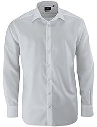 ETERNA Modern Fit Hemd New Kent Kragen Langarm Popeline weiß