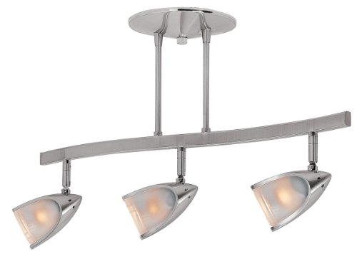 Access Lighting 52030-BS/OPL Comet Three Light Semi Flush, Brushed Steel Finish with Opal Glass Shade by Access Lighting (Bs Flush Semi)