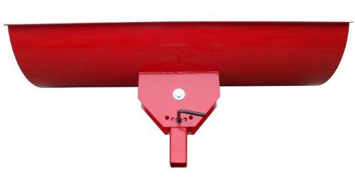 Universal Schneeschild / Hochwertig rot pulverbeschichtet / Breite: 125 cm – Höhe 40cm / Für Einachser Rasentraktor Quad Atv - 3