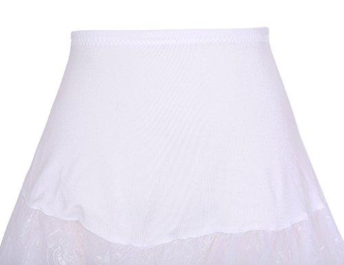 Dresstells 50s Petticoat Reifrock Unterrock Petticoat Underskirt Crinoline für Rockabilly Kleid White Black - 5
