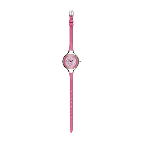 THUN - Orologio da Polso Rosa'Farfalla Lucina' con Cassa in Acciaio Inossidabile - Silicone - 23,5...