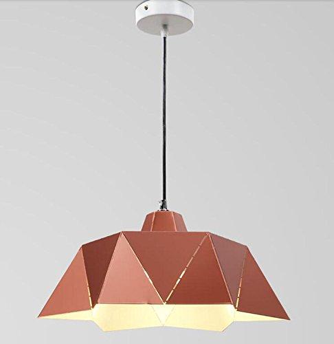 GRFH Eisen Kunst Geometrische Pendelleuchte Metall Fold Prism Hanging Lampe E27 110V-240V