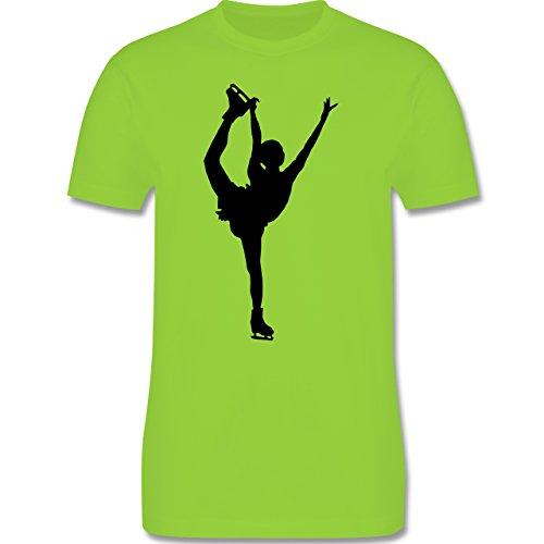 Wintersport - Eiskunstläuferin Einzellaufen - Herren Premium T-Shirt Hellgrün