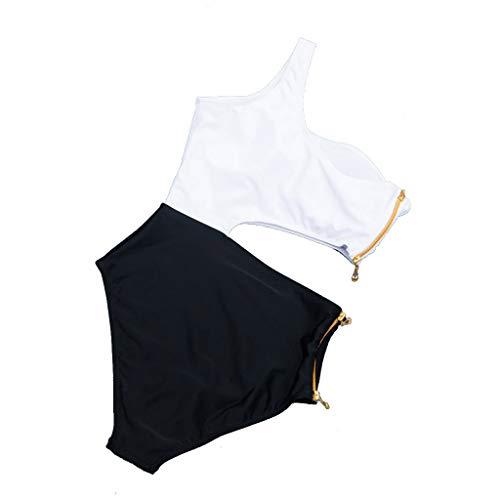 Uomogo costume da bagno intero monospalla con cerniera sexy da donna,eleganti moda fashion estate vintage nuovo 2019