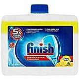 Lot de 4 produits nettoyants pour lave-vaisselle 250 ml, 5 actions puissantes, au citron, fait briller